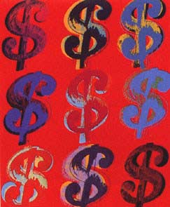 Andy Warhol Nine Dollar Signs Fs Ii